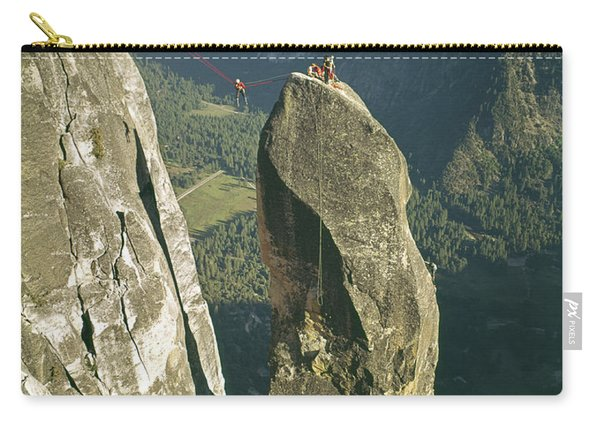 306540 Climbers On Lost Arrow 1967 Carry-all Pouch