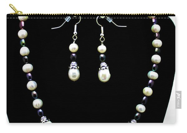 3531 Freshwater Pearl Necklace And Earring Set Carry-all Pouch