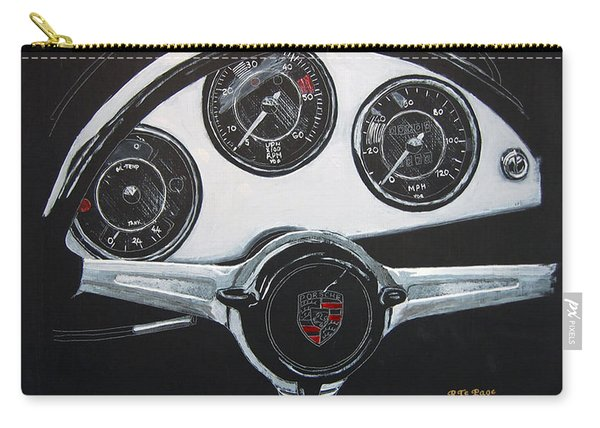 Carry-all Pouch featuring the painting 356 Porsche Dash by Richard Le Page