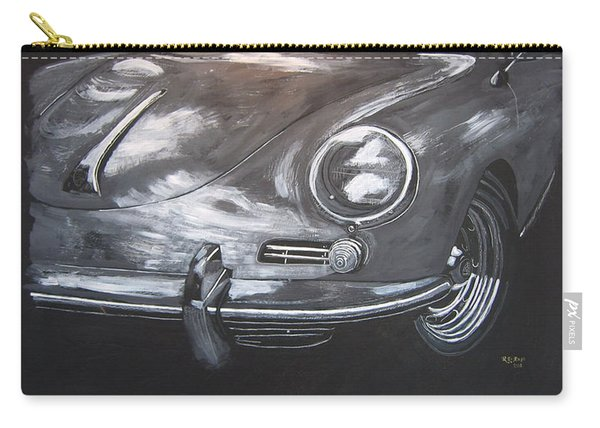 Carry-all Pouch featuring the painting 356 Porsche Front by Richard Le Page