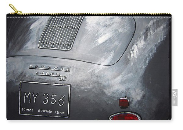 Carry-all Pouch featuring the painting 356 Porsche Rear by Richard Le Page