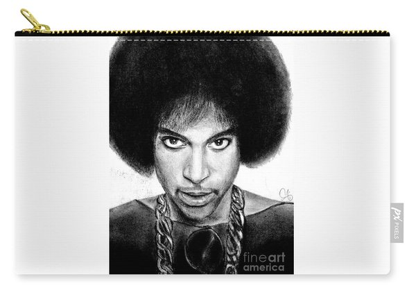 3rd Eye Girl - Prince Charcoal Portrait Drawing - Ai P Nilson Carry-all Pouch