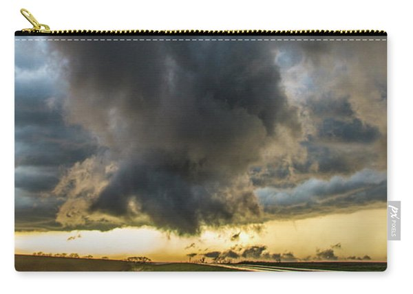 Carry-all Pouch featuring the photograph 3rd Storm Chase Of 2018 050 by NebraskaSC