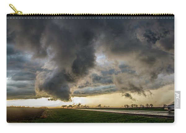 Carry-all Pouch featuring the photograph 3rd Storm Chase Of 2018 051 by NebraskaSC