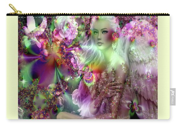 Angel In A Magical Garden Carry-all Pouch