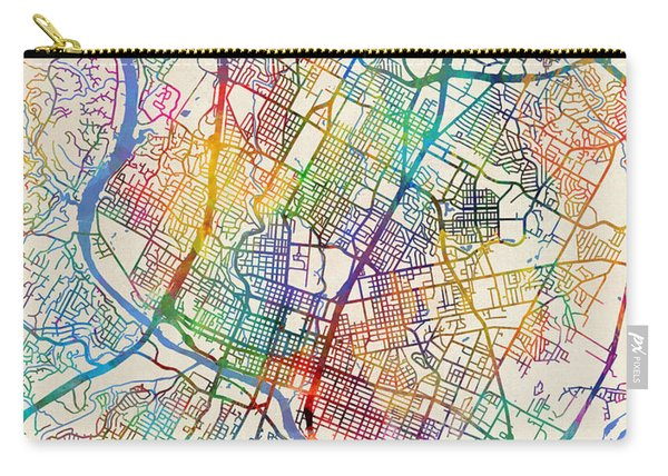 Austin Texas City Map Carry-all Pouch