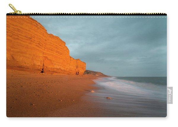 Beautiful Vibrant Sunset Landscape Image Of Burton Bradstock Gol Carry-all Pouch