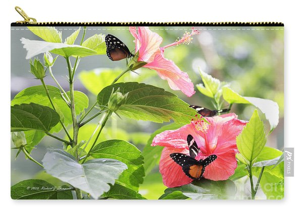 Carry-all Pouch featuring the photograph Cream-spotted Clearwing Butterfly by Richard J Thompson