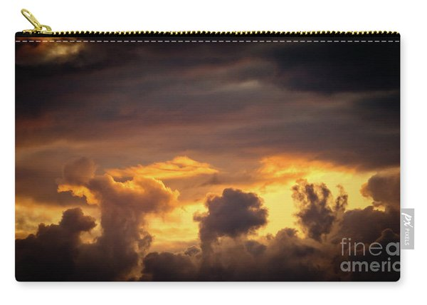 Cloudscape Of Orange Sunset Riga Latvia Artmif Carry-all Pouch