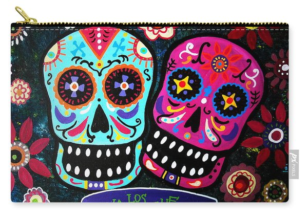 Couple Day Of The Dead Carry-all Pouch