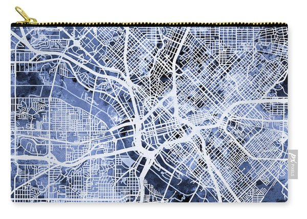 Dallas Texas City Map Carry-all Pouch