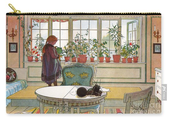 Flowers On The Windowsill Carry-all Pouch