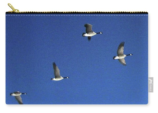 4 Geese In Flight Carry-all Pouch