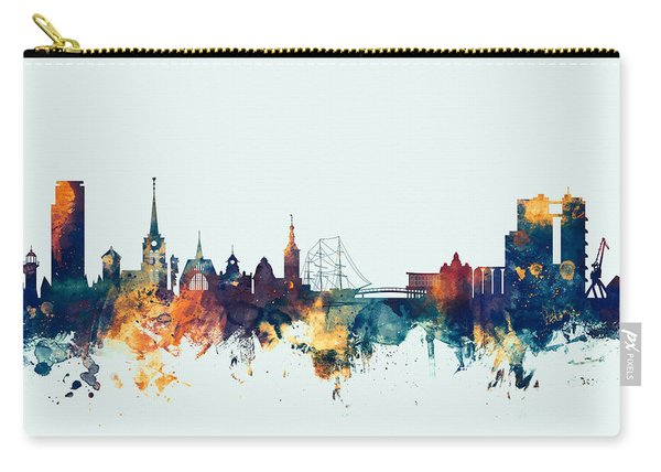 Halmstad Sweden Skyline Carry-all Pouch