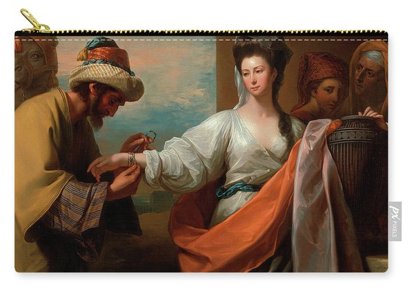 Isaac's Servant Tying The Bracelet On Rebecca's Arm Carry-all Pouch