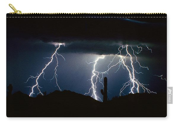 4 Lightning Bolts Fine Art Photography Print Carry-all Pouch