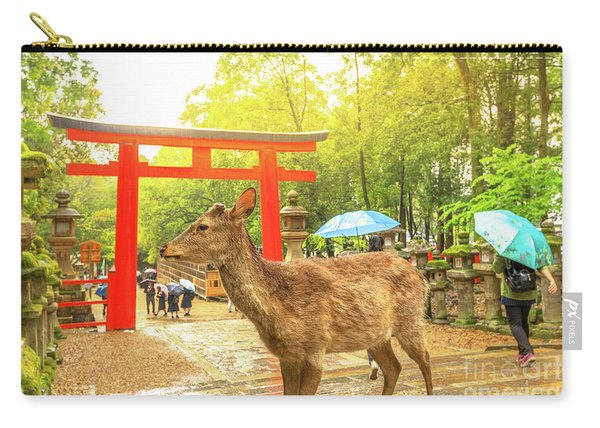 Nara Deer At Sunset Carry-all Pouch
