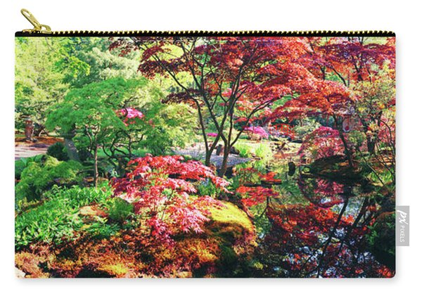 Carry-all Pouch featuring the photograph Nature Background Panorama by Ariadna De Raadt