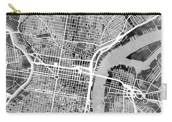 Philadelphia Pennsylvania Street Map Carry-all Pouch