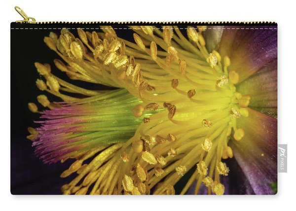 Purple And Yellow Carry-all Pouch