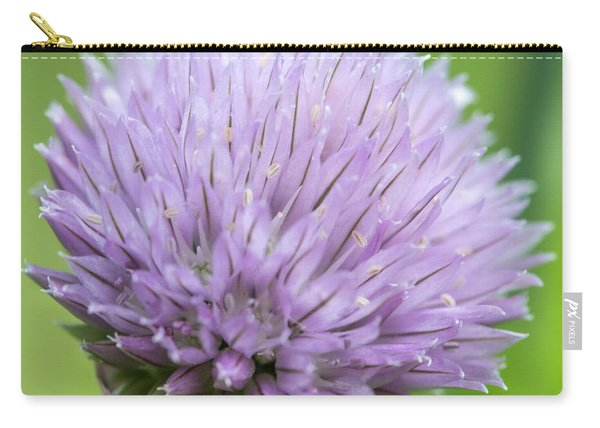 Purple Chive Flower Carry-all Pouch