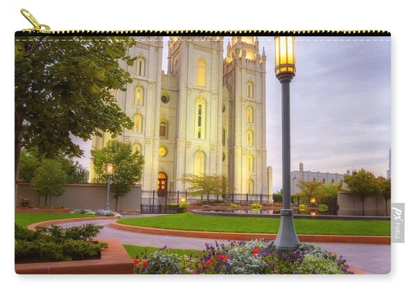 Carry-all Pouch featuring the photograph Salt Lake Temple by Dustin  LeFevre