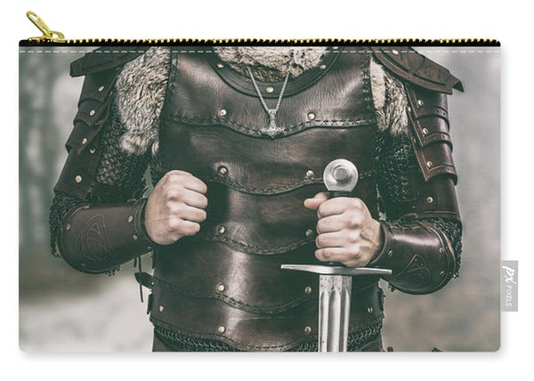 Viking Warrior With Sword Carry-all Pouch