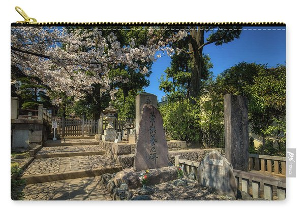 47 Samurai And Cherry Blossoms Carry-all Pouch
