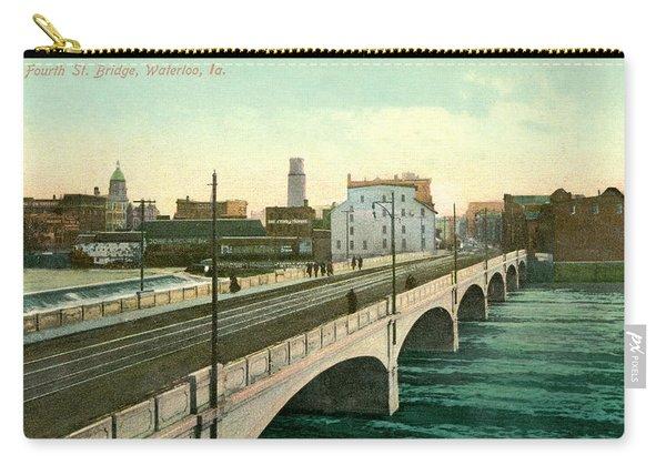 4th Street Bridge Waterloo Iowa Carry-all Pouch