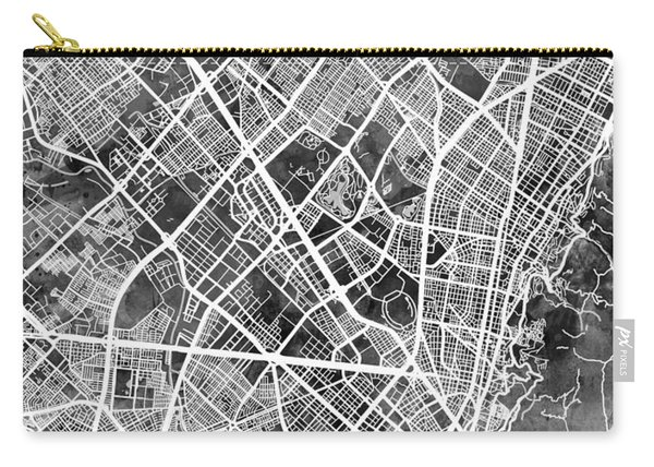 Bogota Colombia City Map Carry-all Pouch