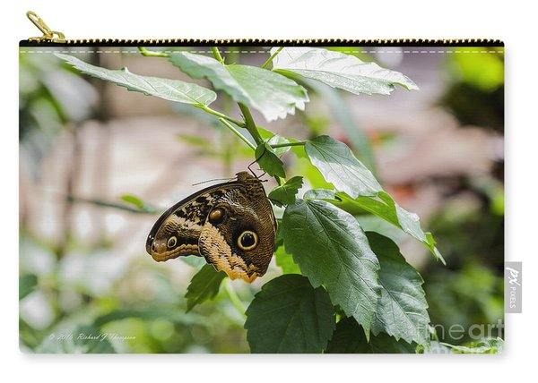 Carry-all Pouch featuring the photograph Owl Butterfly by Richard J Thompson