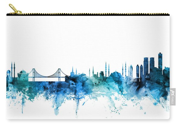 Istanbul Turkey Skyline Carry-all Pouch