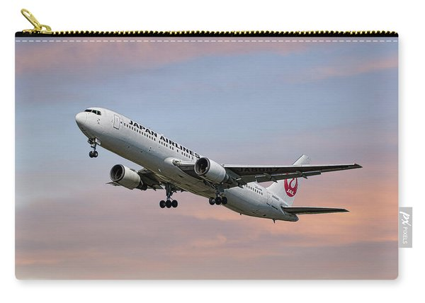 Japan Airlines Boeing 767-346 Carry-all Pouch