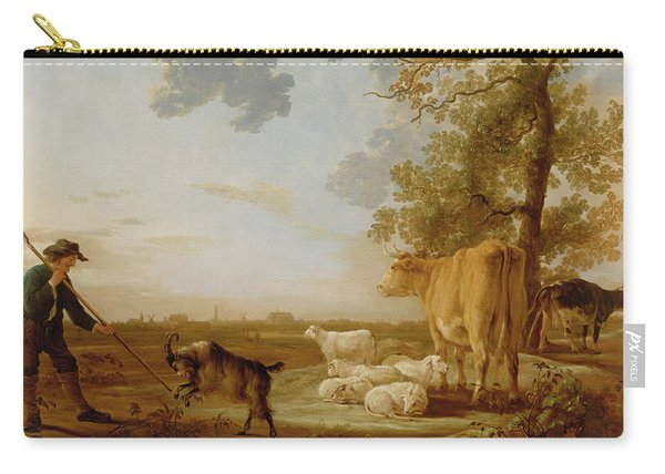 Landscape With Cattle Carry-all Pouch