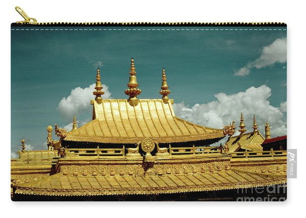 Lhasa Jokhang Temple Fragment Tibet Artmif.lv Carry-all Pouch