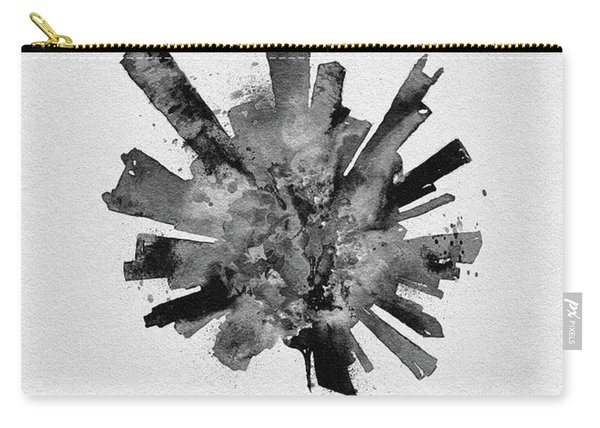 Black Skyround Art Of Chicago, United States Carry-all Pouch