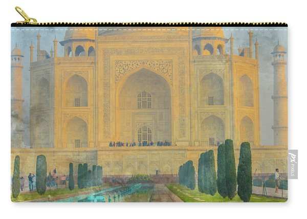 Taj Mahal In Agra India Carry-all Pouch
