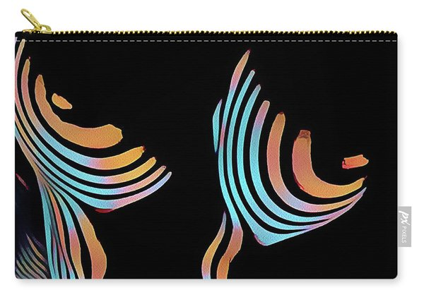 5126s-mak Large Breasts Ribs Abstract View Rendered In Composition Style Carry-all Pouch