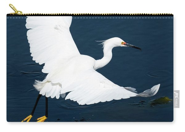 Snowy White Egret Carry-all Pouch