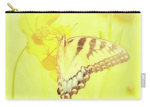Tiger Swallowtail Butterfly On Cosmos Flower Carry-all Pouch