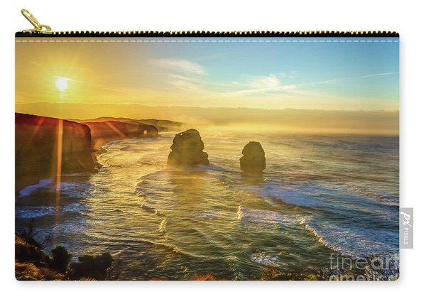 Carry-all Pouch featuring the photograph Twelve Apostles Victoria by Benny Marty