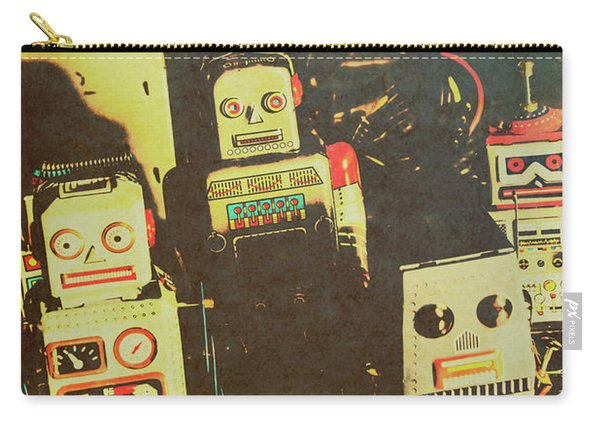 60s Cartoon Character Robots Carry-all Pouch