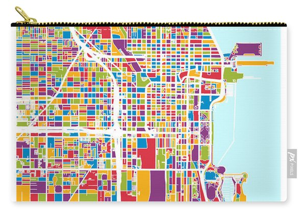 Chicago City Street Map Carry-all Pouch