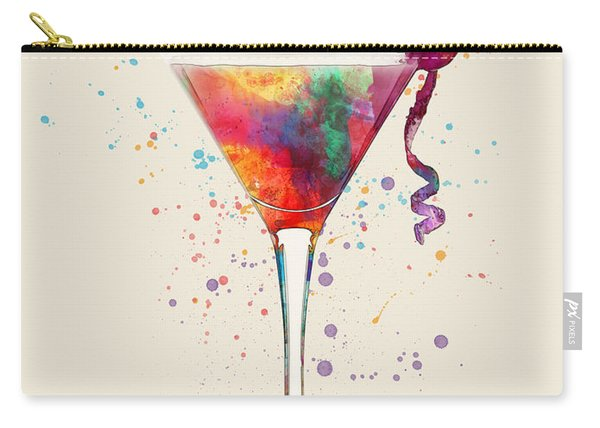 Cocktail Drinks Glass Watercolor Carry-all Pouch