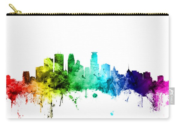 Minneapolis Minnesota Skyline Carry-all Pouch