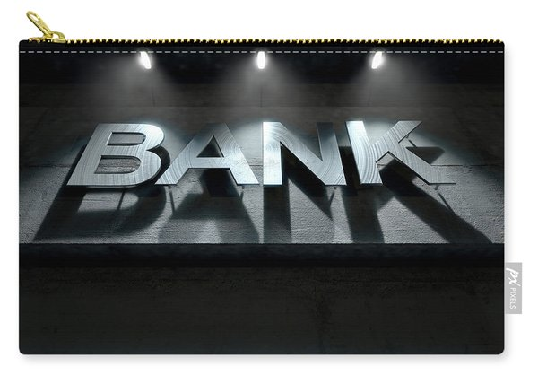 Modern Bank Building Signage Carry-all Pouch