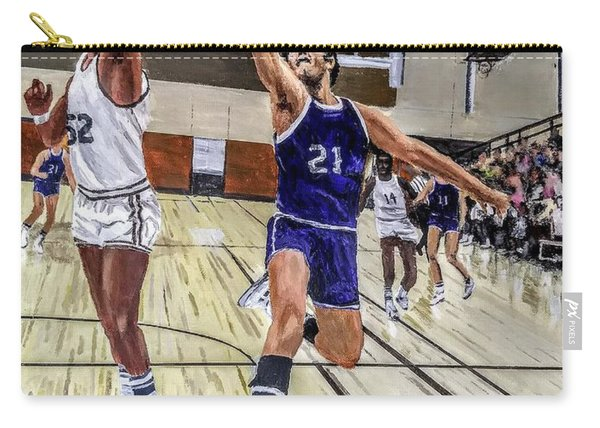 Carry-all Pouch featuring the painting 70's Layup by Kevin Daly