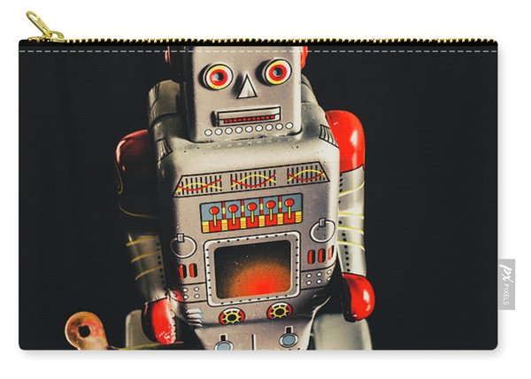 70s Mechanical Android Bot  Carry-all Pouch