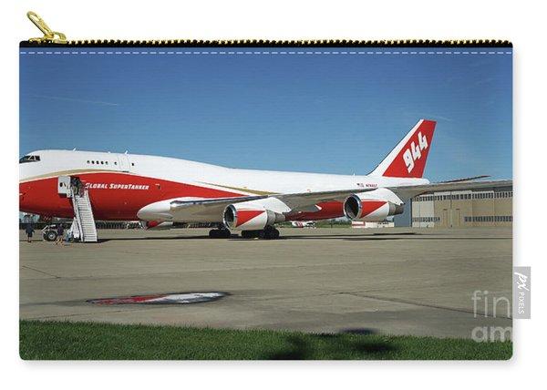 Carry-all Pouch featuring the photograph 747 Supertanker by Bill Gabbert