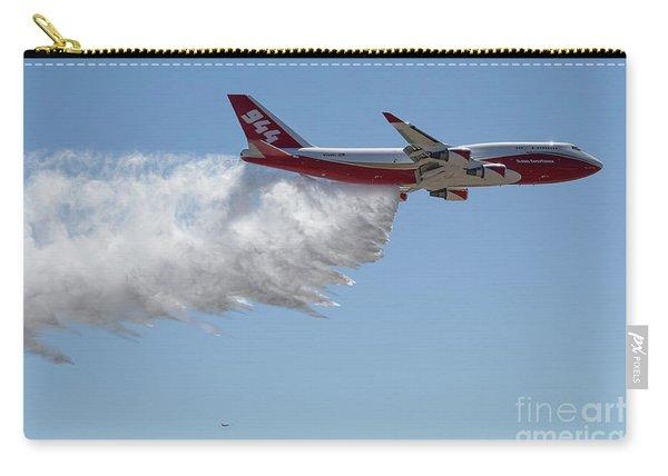 Carry-all Pouch featuring the photograph 747 Supertanker Drop by Bill Gabbert